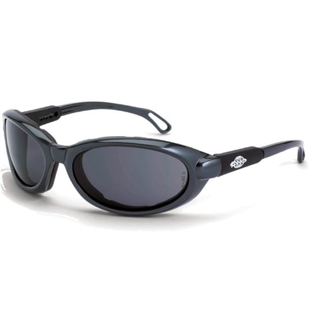 Crossfire MK12 Pearl Gray Frame Foam Lined Anti-Fog Smoke Lens Safety Glasses 1161AF - Box of 12
