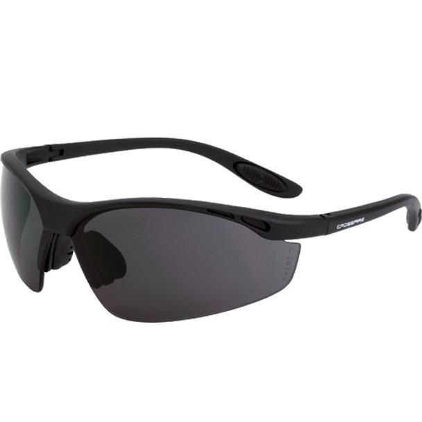 Crossfire Talon Matte Black Half-Frame Smoke Lens Safety Glasses 121 - Box of 12