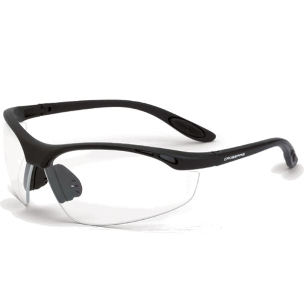 Crossfire Talon Matte Black Half-Frame Clear Lens Safety Glasses 124 - Box of 12