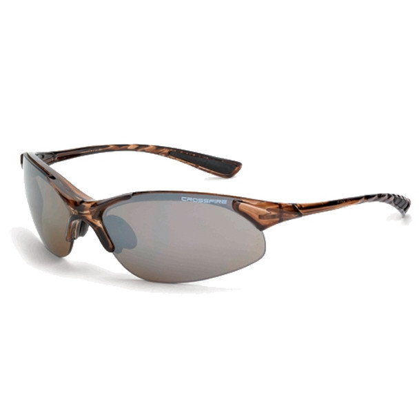 Crossfire XCBR Crystal Brown Half-Frame HD Brown Flash Mirror Lens Safety Glasses 15117 - Box of 12