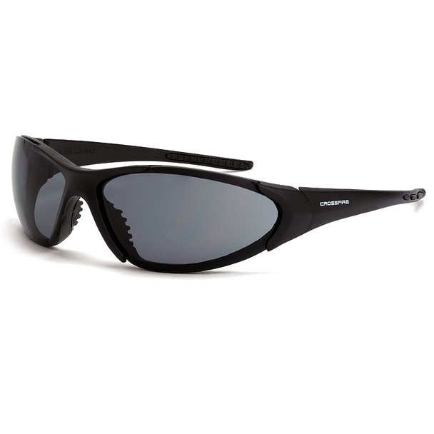 Crossfire Core Matte Black Frame Smoke Lens Safety Glasses 1821 - Box of 12