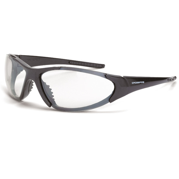 Crossfire Core Shiny Pearl Frame Frame Anti-Fog Clear Lens Safety Glasses 1864AF - Box of 12