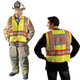 Occunomix Class 2 Hi Vis Yellow Pre Printed Fire Fighter Public Safety Vest LUX-PSF Front/Back