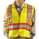 Occunomix Class 2 Hi Vis Yellow Pre Printed Fire Fighter Public Safety Vest LUX-PSF Front In Use