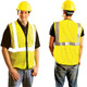 Occunomix Class 2 Hi Vis Mesh Safety Vest LUX-SSGZC Front/Back