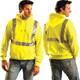 Occunomix Class 2 Hi Vis Hooded Sweatshirt LUX-SWTLH Front/Back