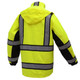 GSS Class 3 Hi Vis Premium ONYX Lime 3-in-1 Winter Parka Jacket with Teflon Protector 8505 Back