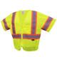 GSS Class 3 Hi Vis Lime Economy Vest with 2 Tone Trim 2005