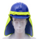 GSS Hi Vis Lime Sun Shield with PVA Cooling for Hard Hat 9303 Front