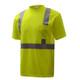 GSS Class 2 Hi Vis Yellow Moisture Wicking T-Shirt 5001 Left Side