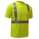 GSS Class 2 Hi Vis Yellow Moisture Wicking T-Shirt 5001 Right Side