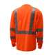 GSS Class 3 Hi Vis Orange Long Sleeve T-Shirt 5506 Back
