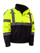 GSS Class 3 Hi Vis Lime 3-in-1 Jacket with Ripstop Bottom 8003 Right Side