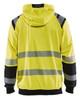 Blaklader Class 3 Hi Vis Yellow Hooded Sweatshirt 344619743399 Back