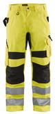 Blaklader Class E Hi Vis Yellow Black Bottom Rip Stop Pants 169918313399 Front