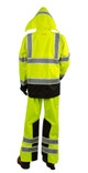 Alpha Workwear Class E Hi Vis Glow in Dark Illuminated Rain Pants A266 Back