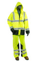 Alpha Workwear Class E Hi Vis Glow in Dark Illuminated Rain Pants A266 with Jacket