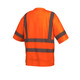 Pyramex Class 3 Hi Vis Orange Moisture Wicking T-Shirt with Chest Pocket RTS3420 Back
