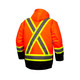 Pyramex Class 3 Hi Vis Orange Two-Tone X-Back Black Bottom Trim 7-in-1 Parka RC7P3520 Back