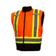 Pyramex Class 3 Hi Vis Orange Two-Tone X-Back Black Bottom Trim 7-in-1 Parka RC7P3520 Inner Vest Front