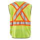 Blaklader Class 2 Hi Vis Two-Tone X-Back Yellow Black Bottom Safety Vest 313310543399 Back