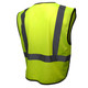 Radians Class 2 Hi Vis Green Black Bottom Economy Mesh Safety Vest SV3B-2ZGM Back
