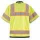 Occunomix Class 3 Hi Vis Yellow Two-Tone Heavy Duty Surveyor Vest with Black Trim LUX-HDS2T3 Back