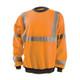 Occunomix Class 3 Hi Vis X-Back Crew Neck Sweatshirt with Black Trim LUX-CSWTX Orange Front