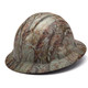 Box of 12 Pyramex Ridgeline Full Brim 4-Point Ratchet Hydro Dipped Hard Hats HP54119 Matte Camo