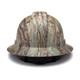Box of 12 Pyramex Ridgeline Full Brim 4-Point Ratchet Hydro Dipped Hard Hats HP54119 Matte Camo Back