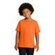 Gildan Non-ANSI Hi Vis Safety Youth Cotton Poly T-Shirt 5000B Safety Orange