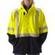 NASCO FR Class 3 Hi Vis Yellow Omega Flash Fire Arc Rated Rain Jacket 5503JNFY Close Up