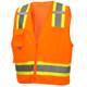 Pyramex Class 2 Hi Vis Orange Two-Toned Safety Vests RVZ2420 Front