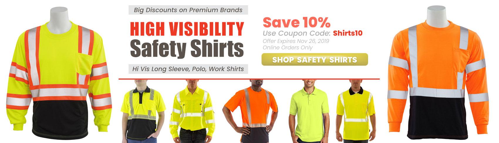 Hi Vis Safety Shirts - special offer