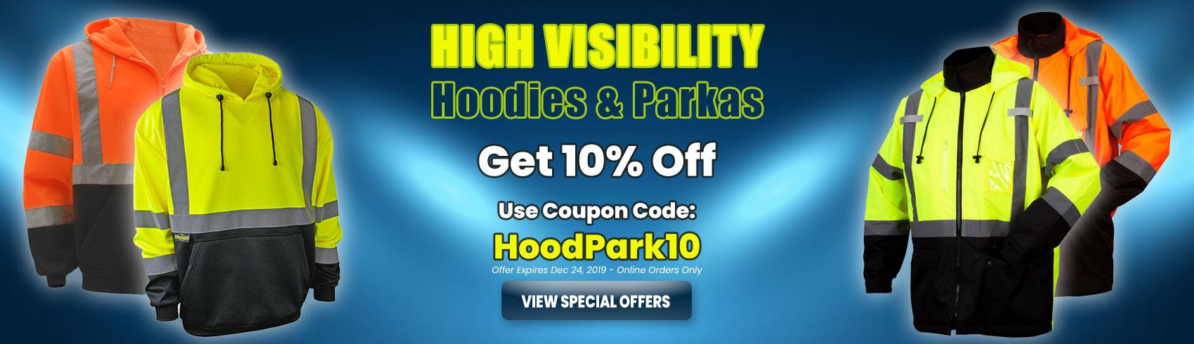 Hi Vis Hoodies and Parkas Special Offer