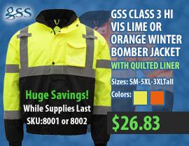 GSS hi vis jacket 8002