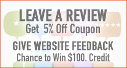 Leave a Review for 5% Off or Feedback to win store credit.