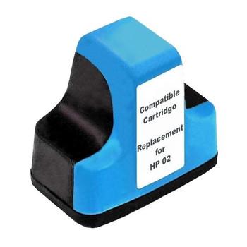 HP Compatible #02 Cyan High Capacity Remanufactured Inkjet Cartridge