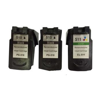 Remanufactured Value Pack (2 x PG510 Black & 1 x CL511 Colour)