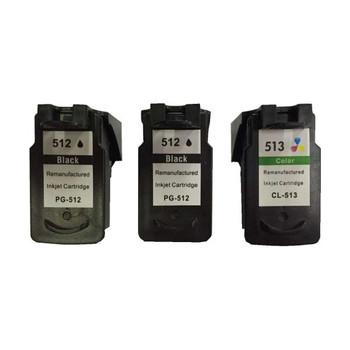 Remanufactured Value Pack (2 x PG512 Black & 1 x CL513 Colour)