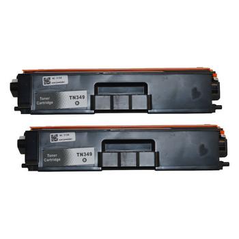 TN-349 Black Premium Generic Toner (Set of 2)