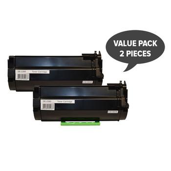 2 x 592-11952 #2360 Black Premium Generic Toner