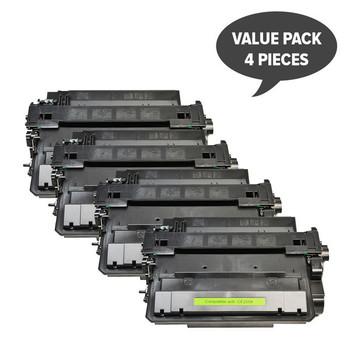 HP Compatible CE255X #55X Black Compatible Laser Toner x 4