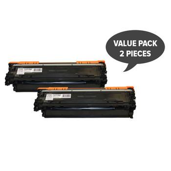 HP Compatible 2 x CE270A #650A Black Cart 322 Premium Generic Toner