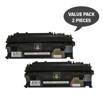 HP Compatible #80A CF280A Premium Generic Toner x 2