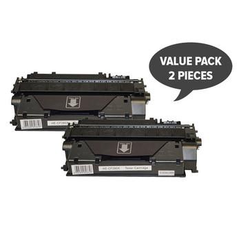 HP Compatible 2 x CF280X #80x Premium Generic Toner