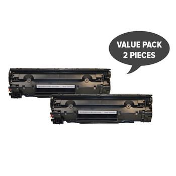 HP Compatible 2 x CE285A #85A Cart325 Black Generic Toner