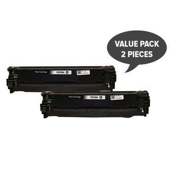 HP Compatible 2 x CE320 #128A Black Premium Generic Toner