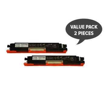 HP Compatible 2 x CF350A #130 Premium Black Generic Toner
