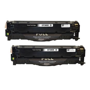 HP Compatible CF380X #312X Premium Generic Remanufactured Black Toner x 2